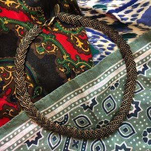 MNG By Mango Gold Chocker Necklace